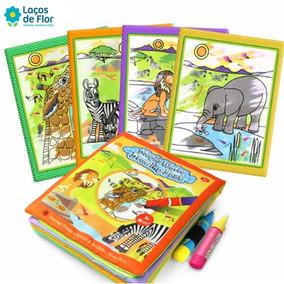 Livro Para Colorir Caneta Mágica Base Dágua Infantil
