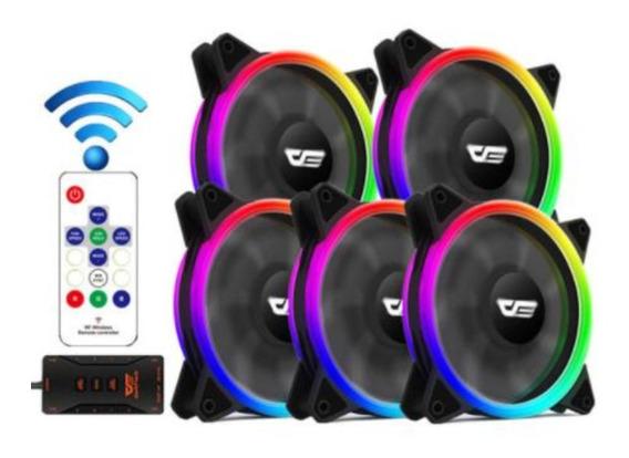 Kit 5 Fans/coolers Aigo Dr12 Pro Aura Sync - Pronta Entrega