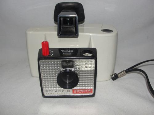 Antiga Camera Polaroid Land Swinger Modelo 20 Década De 70