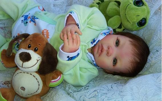 Bebe Reborn Menino Tomaz Olhos Verdes