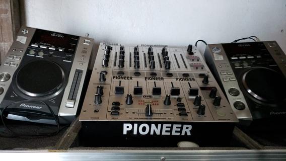 Conjunto Dj 2 Cdj200 Pioneer + Djx700 Behringer