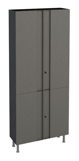 Armário Multiuso Telasul Multibox 80cm Preto/cinza