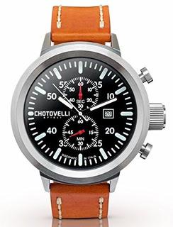 Chotovelli Big Pilot Reloj Para Caballero Cronografo Analogi
