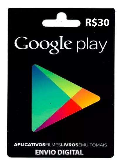Gift Card 30 Reais Playstore Envio Digital