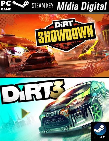 Pc Dirt 3 E Dirt: Showdown- Steam Key- Mídia Digital Jogo Pc