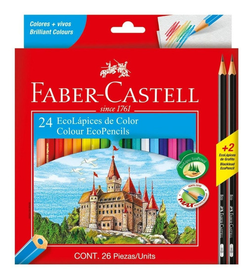 Lapices De Color Faber Castell X24u + 2 Grafitos Gratis