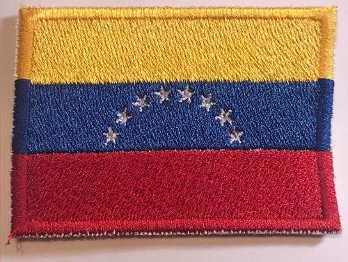 Parche Bandera Venezuela Bordado 100%