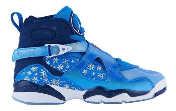 Nikeair Jordan 8 Retro Gs Snowflake Mujer Mayma Sneakers