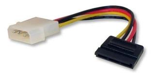 Cable Sata Power De Alimentación P/ Disco Rigido 15cm X 10 U