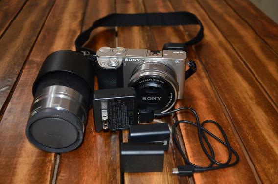 Câmera Sony A6000 + Lentes 16-50 E 55-210