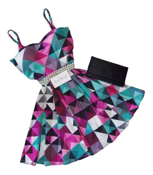 Vestido Macaquinho Boneca Rodado Curto Lafiore Store