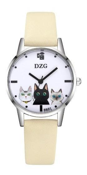 2 Relógios De Pulso Analógico Gatinhos Promoção