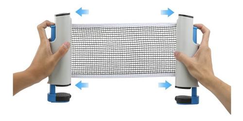 Imagen 1 de 7 de Red Ping Pong Con Soporte Ajustable Retráctil Extensible