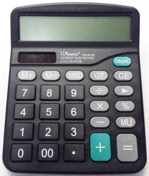 Calculadora De Mesa Kenko Kk837b 12 Digitos