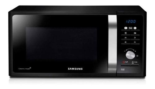 Imagen 1 de 8 de Microondas Grill Samsung Mg23f3k3t Negro 23l Hermosos