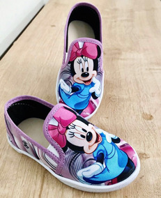 Tênis/ Sapatenis Infantil Personagem Minnie Rosa