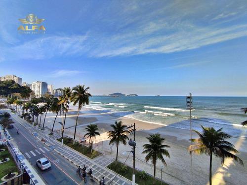 Imagem 1 de 25 de Apartamento Na Praia, 3 Dormitórios, 3 Suítes, Frente Ao Mar, 2 Vagas, Piscina, Churrasqueira, Astúrias, Guarujá. - Ap1100