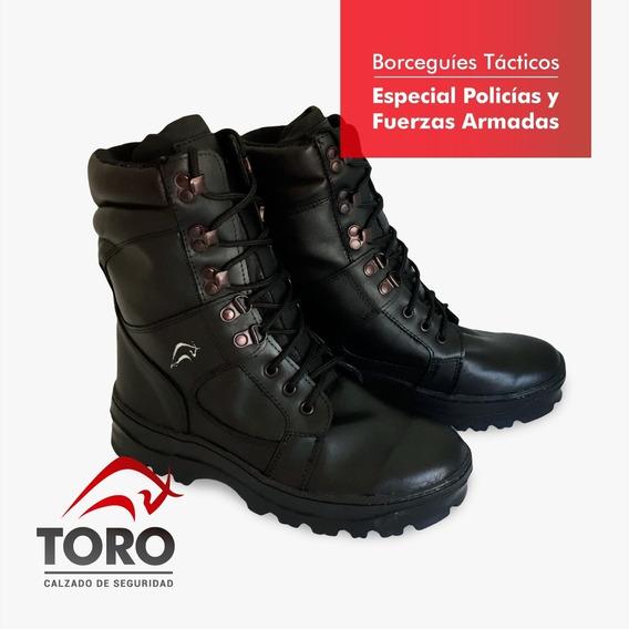 Borcego (todo Cuero) Para Policia Y Fuerza De Seguridad