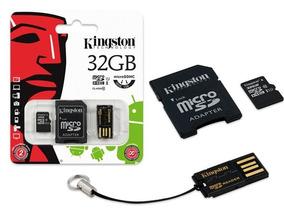 Cartao De Memoria Kingston 32 Gb Com Adaptador Usb / Sd
