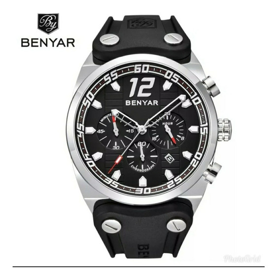 Relógio Masculino Benyar 3 Bar Silicone Original