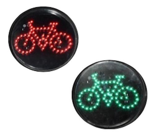 Lampara Led Para Semaforo Vial De 300mm Ciclista Dinámico
