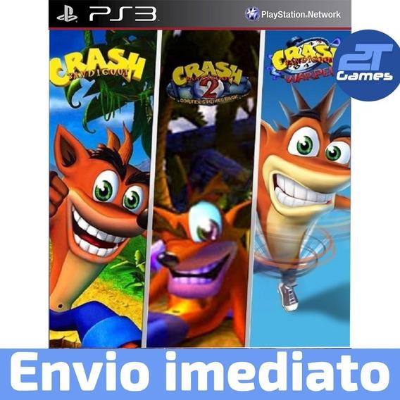 Crash Bandicoot Trilogia 1 2 3 Ps3 Psn Jogo Pronta Entrega