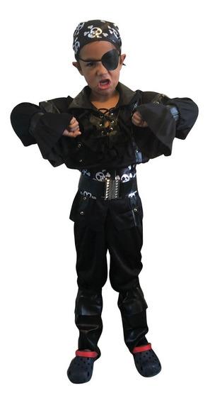Disfraz Pirata Barba Negra Niño Halloween