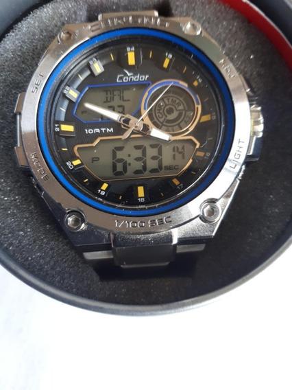Relógio Condor Masculino Analógico E Digital Prata