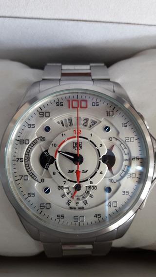 Relógio Cronômetro Tag Mercedes Benz Aço/ Bateria Promoção!