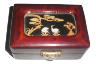 Alhajero Madera Chino Vintage Mini Joyero Garza Tallado $790