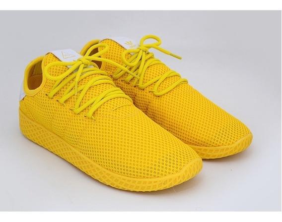 Tênis adidas Pharrell Wlliams Hu Amarelo