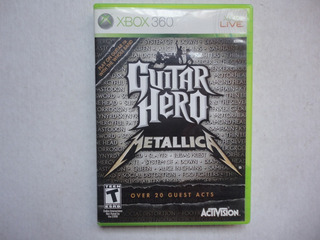 Guitar Hero Metallica Xbox 360 Completo!!!!