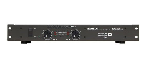 Potência Ciclotron W Power 1600 400w Rms