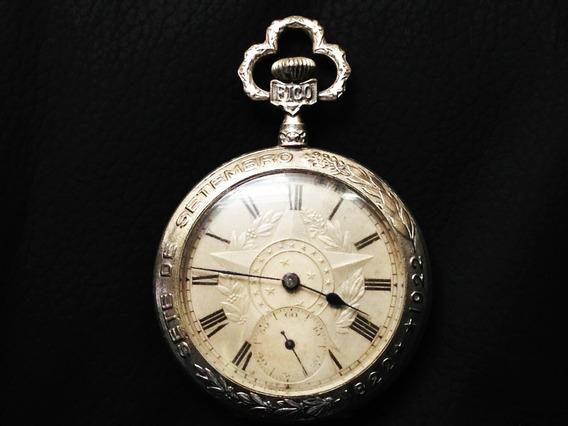 Relógio Fico Independência Do Brasil Em Prata.