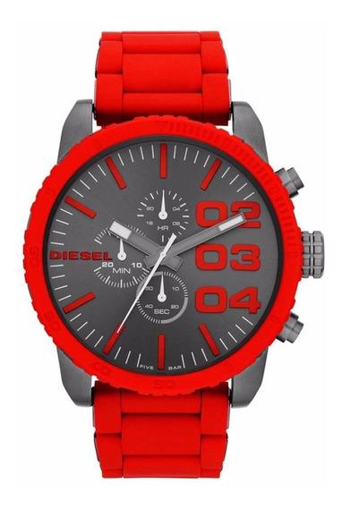 Relógio Diesel Masculino Cronógrafo Vermelho Idz4289/z