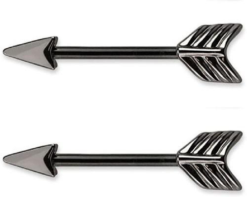 Barbells - Piercing De Pezón Con Forma De Flecha  Acero Ino