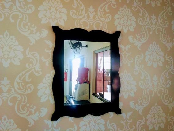 Espelho Mdf Vintage Preto Mod. Esp-0001