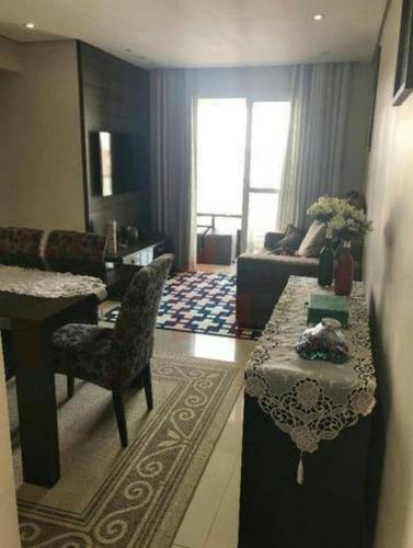 Apartamento À Venda, 68 M² Por R$ 480.000,00 - Vila Caraguatá - São Paulo/sp - Ap0055