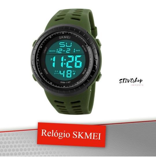 Relógio De Pulso Skmei 1068 Sports Military Army Green
