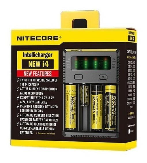 Carregador De Bateria 18650 Nitecore New I4