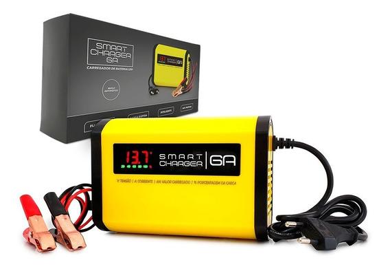 Carregador De Bateria Moto 12v 6a Inteligente Portátil P/ Honda Cg 125 160 Twister Yamaha Ybr 150 Fazer 250 Bros Xre Xt