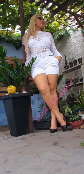 Promoção Imperdível Shorts Femenino Cós Cintura Alta Cinto