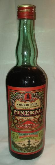 Antigua Botella Aperitivo Pineral Unica Sin Abrir