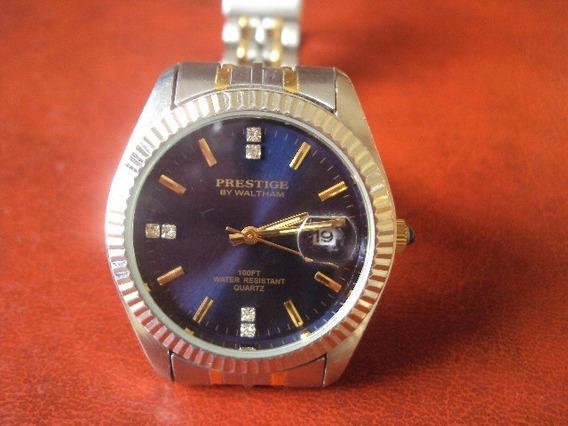 Relógio Suíço Walthan Prestige Com Brilhantes.