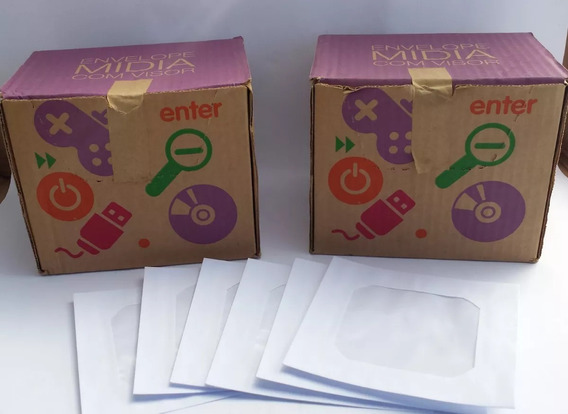 Envelopes Para Cd/dvd 125mm X 125mm Visor Branco Cx 250 Un.