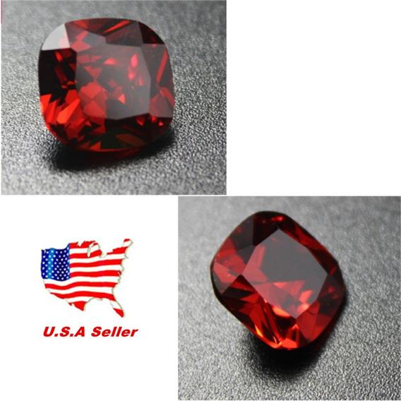 12.85ct Paloma Rojo Sangre Rubí Unheated 12mm Diamante Cushi