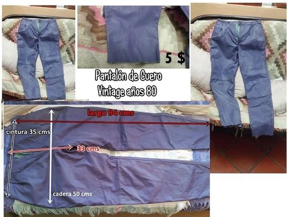 Pantalón Cuero Morado Vintage Años 80 Remato