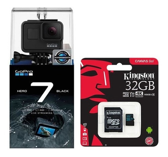Camera Digital Gopro Hero 7 Black 12mp 4k Wifi+ Sd 32gb + Nf