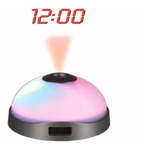 Imagen 1 de 4 de Reloj Despertador Con Proyector De Estrellas Y Hora Enviogra