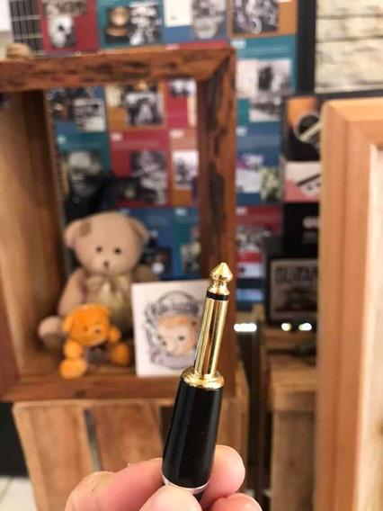 Kit 6 Conector P10 Dourado